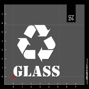 Recycle Bin Sticker - Glass