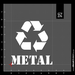 Recycle Bin Sticker - Metal