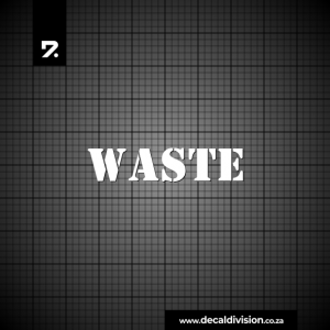 Waste Bin Sticker