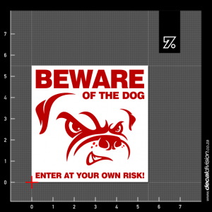 Beware of the Dog Sign A