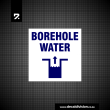 Borehole Water Sign A