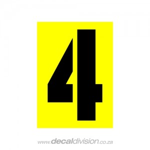 House Number 4 Sticker