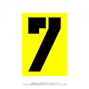 House Number 7 Sticker