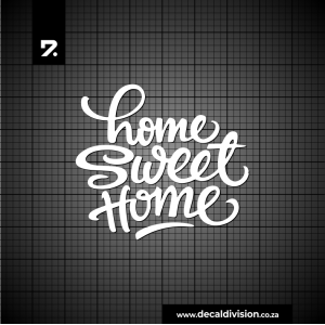 Wall Quote Sticker - Home sweet Home A