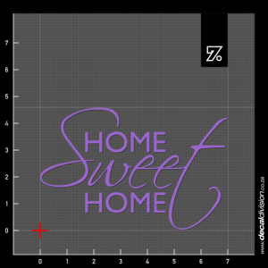 Wall Quote - Home Sweet Home Sticker B