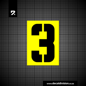 House Number 3 Sticker