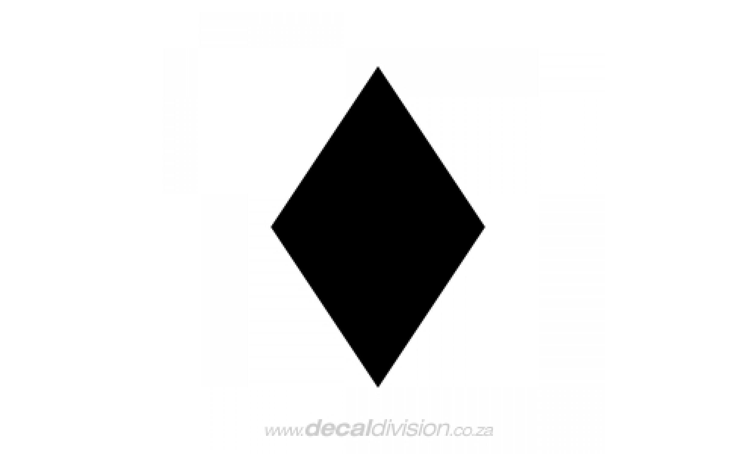 Diamond Shape Sticker