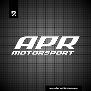 APR Motorsport Logo Sticker