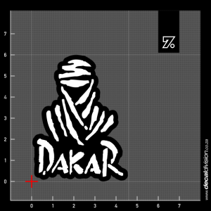 Dakar Logo Outline Sticker