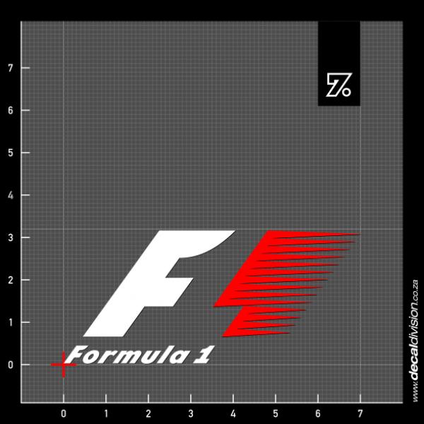 formula 1 logo sticker old