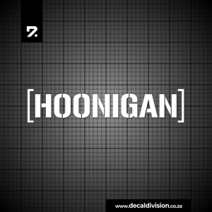 Hoonigan Logo Sticker