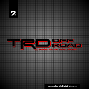 Toyota Racing Development Offroad Sticker