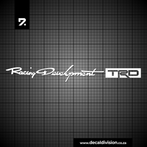 Toyota Racing Development Sticker