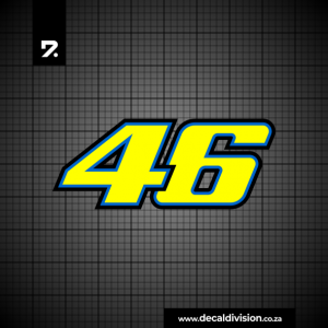 Valentino Rossi Number 46 Sticker