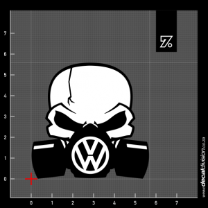 Gasmask Skull Sticker - VW