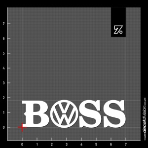 VW Boss Sticker
