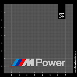 BMW M Power Sticker