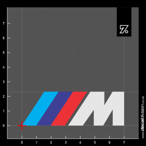 BMW Motorsport M Logo Sticker