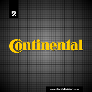 Continental Tyres Logo Sticker