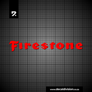Firestone Tyres Logo Sticker