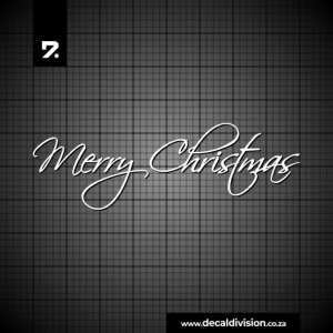 Merry Christmas Lettering Sticker A