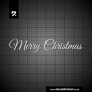 Merry Christmas Lettering Sticker B