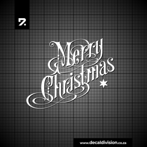 Merry Christmas Lettering Sticker C