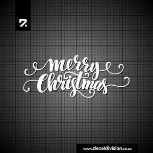 Merry Christmas Lettering Sticker D