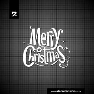 Merry Christmas Lettering Sticker E