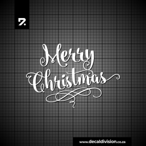 Merry Christmas Lettering Sticker F