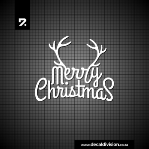 Merry Christmas Lettering Sticker G