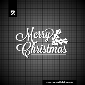 Merry Christmas Lettering Sticker H