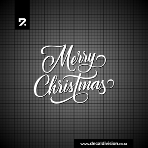 Merry Christmas Lettering Sticker I