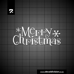 Merry Christmas Lettering Sticker J
