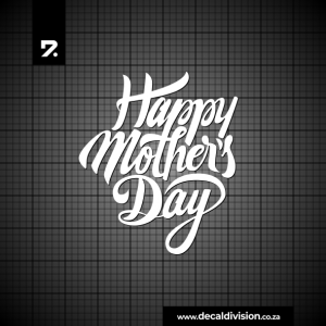 Happy Mothers Day Sticker - Lettering