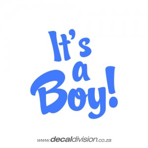 It's a Boy Sticker