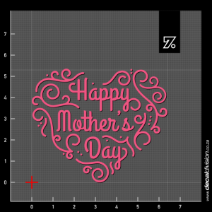 Happy Mothers Day Sticker - Ornamental