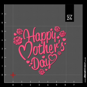 Happy Mothers Day Sticker - Roses
