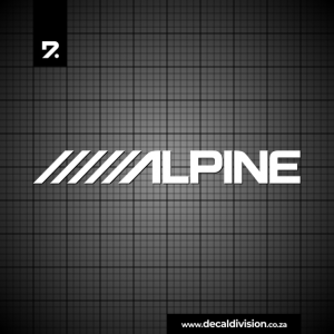 Alpine Audio Logo Sticker