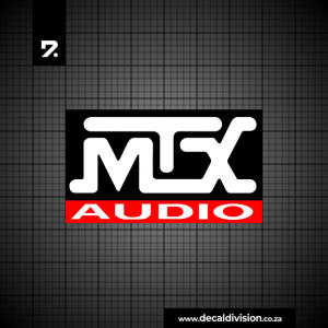 MTX Audio Logo Sticker