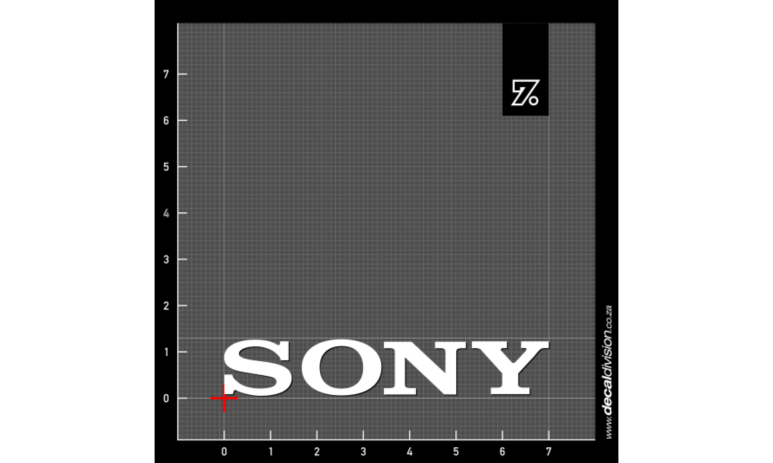 Sony logo sticker
