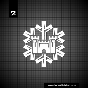 Castle Lager Snowflake Sticker
