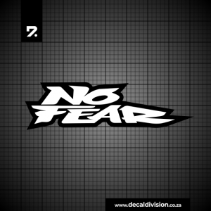 No Fear Logo Lettering Sticker B