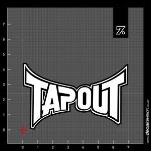 Tapout Logo Sticker
