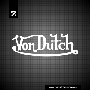 Von Dutch Logo Sticker