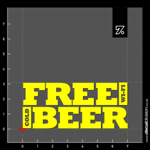 Free Wi-Fi Cold Beer Sticker