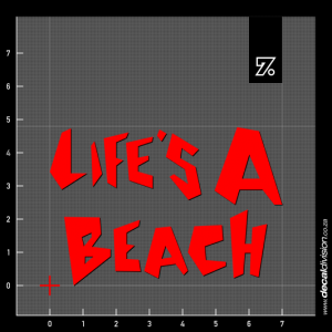 Life's a Beach Sticker