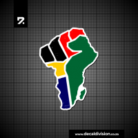 African Strength Clenched Fist Sticker