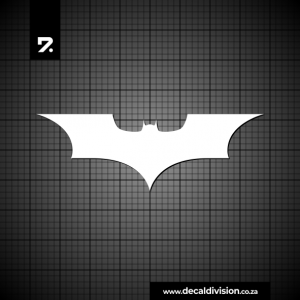 Batman Logo Sticker - Straight Wing