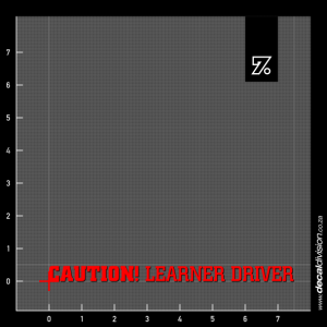 Caution Learner Driver Sticker - Long